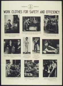 Abiti da lavoro donne vintage seconda guerra mondiale WWII