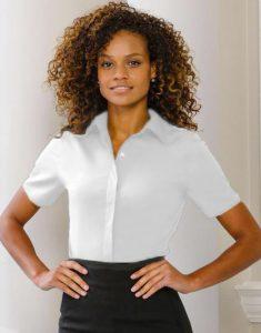 short sleeved non-iron shirt for women