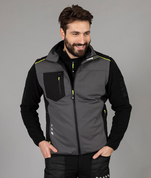 Gilet in softshell a tre strati