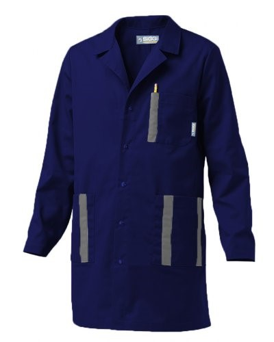 Camice da lavoro blu poliestere e cotone