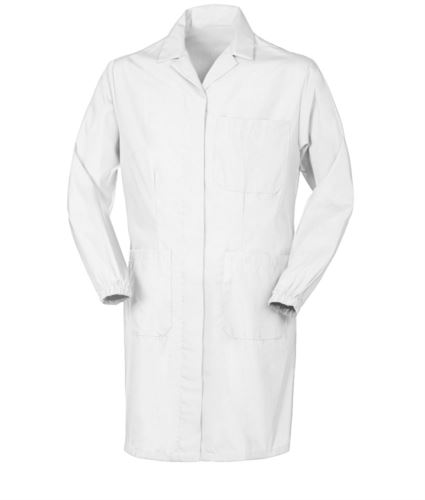 camice da donna per uso professionale color bianco