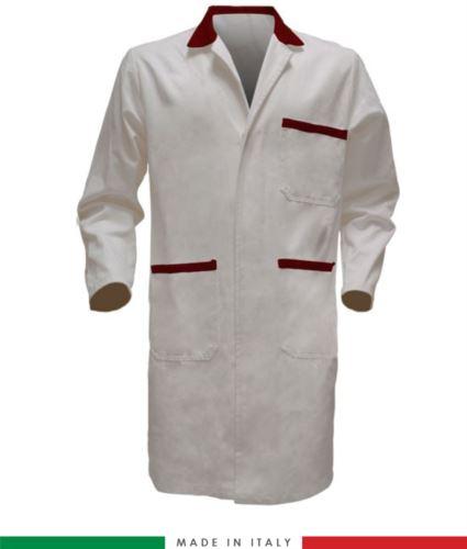 camice da lavoro bicolore 100% cotone made in Italy