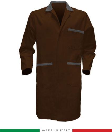 camici da lavoro 100% cotone per uso lavorativo bicolore