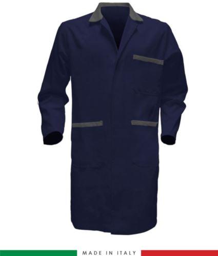 Camice da lavoro colore blu/grigio per uso professionale