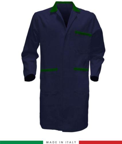 camice da lavoro per uso professionale colore blu/verde