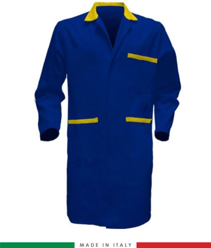 camici da uomo per uso professionale made in italy azzurro giallo