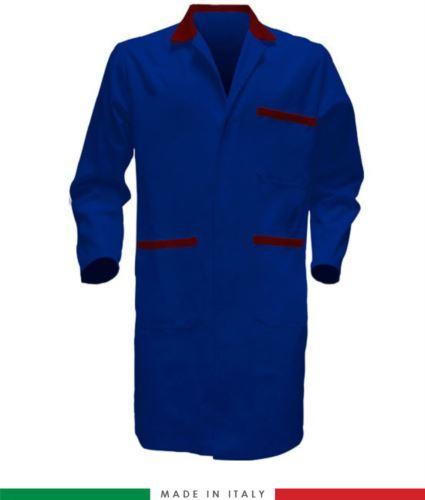 Camici da lavoro per uso professionale colore azzurro/rosso