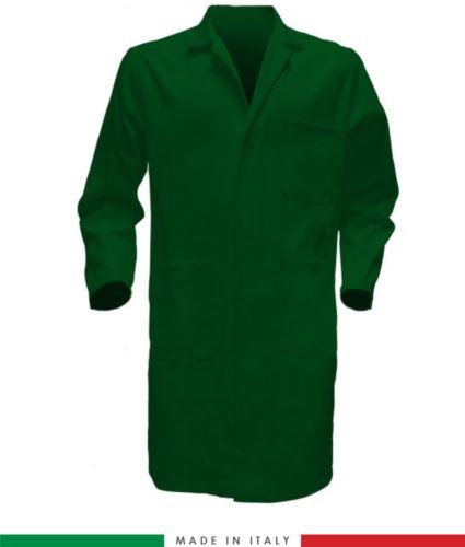 Camice da uomo colore verde made in Italy 100% cotone