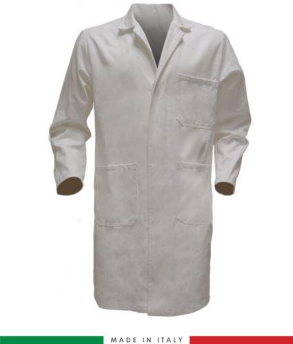 camici da uomo per uso professionale 100% cotone colore bianco