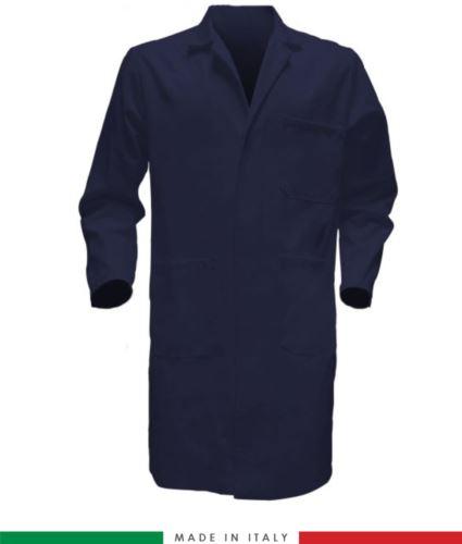 camice color blu da uomo con bottoni coperti 100% cotone massaua sanforizzato