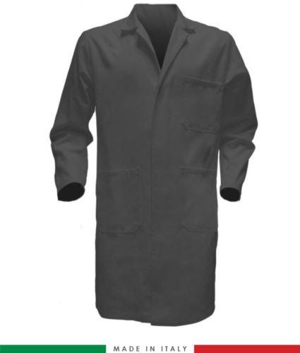 Camice da lavoro per uomo a manica lunga 100% cotone grigio
