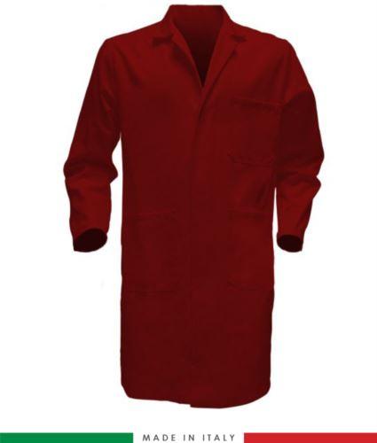Camice da lavoro uomo made in italy rosso in cotone