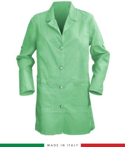 camice verde da donna a manica lunga made in italy
