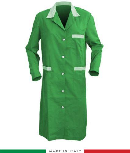 Camice da lavoro da donna made in italy verde