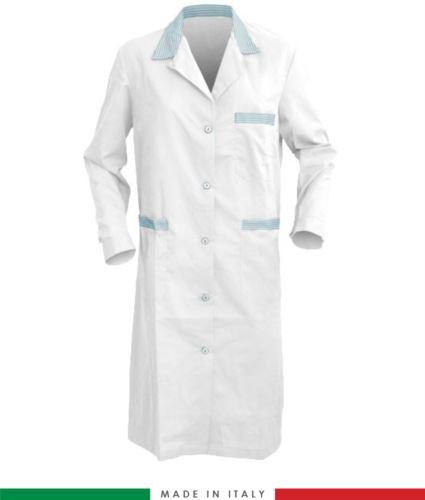 Camice made in italy da donna bianco ed azzurro