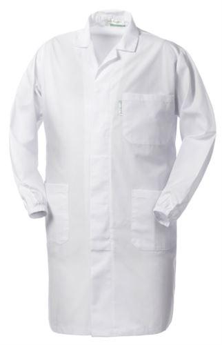 camice da uomo bianco con bottoni coperti poliestere e cotone