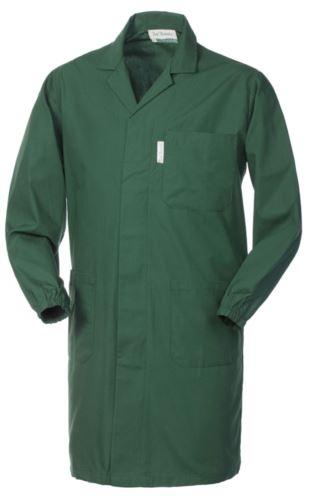 camice da lavoro da uomo con bottoni coperti colore verde