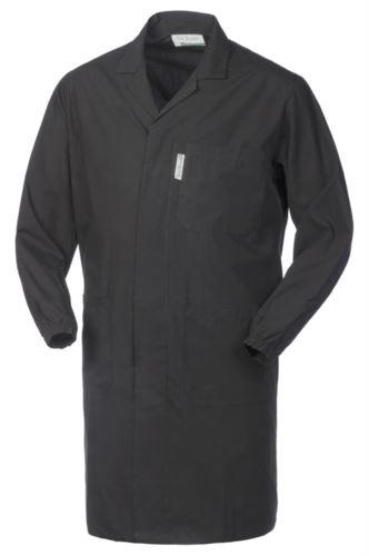 camice da lavoro uomo con bottoni coperti colore nero