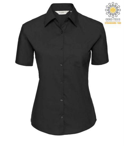 camicia da divisa da lavoro a manica corta colore nero