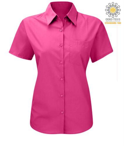 Camicia da lavoro colore fucsia modello da donna
