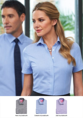 Camicia da donna per la divisa elegante da lavoro. Tessuto in poliestere e cotone. Vendita all'ingrosso . Richiedi un preventivo gratuito.
