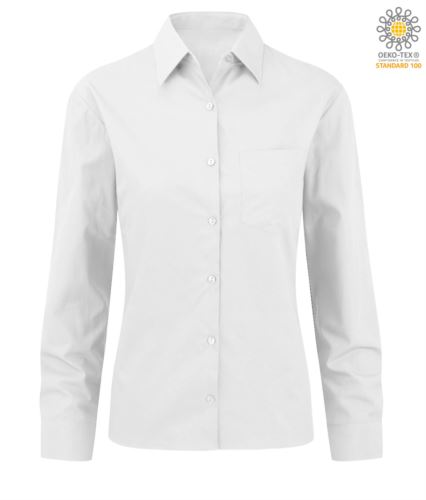 Camicia da donna a manica lunga bianca per divisa elegante