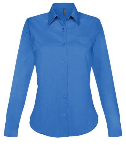 camicia da donna per divisa da lavoro colore azzurro chiaro manica lunga