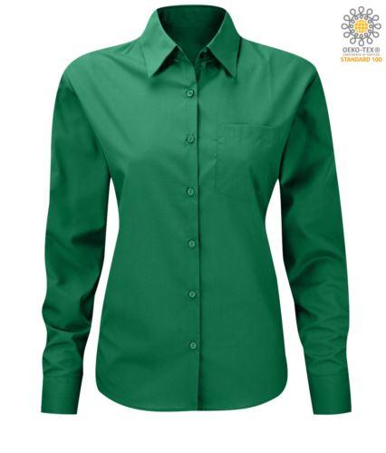 camicia elegante da donna a manica lunga colore Kelly Green