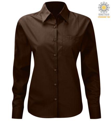 Camicia da divisa elegante colore marrone