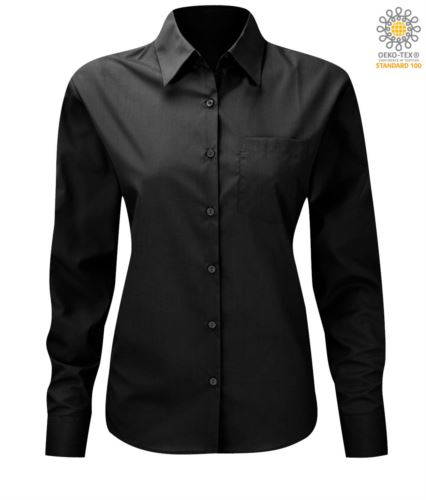 Camicia da divisa elegante colore nero