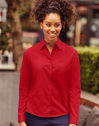 Camicia donna popeline maniche lunghe