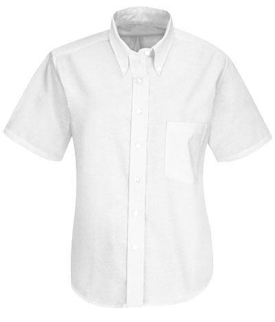 camicia bianca da divisa per donna botton down a mancia corta