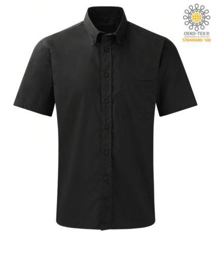 Camicia colore nero per divisa da lavoro a manica corta