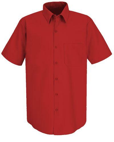 Camicia colore rosso per divisa da lavoro 100% cotone