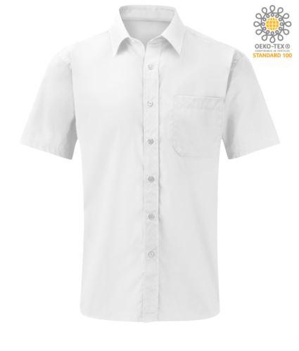 camicia da uomo a manica lunga colore bianco