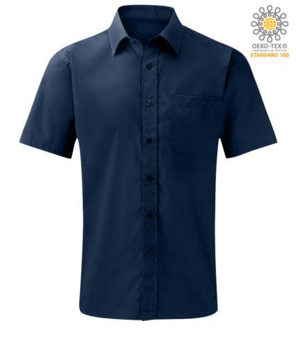 Camicia da lavoro a manica corta uomo colore blu