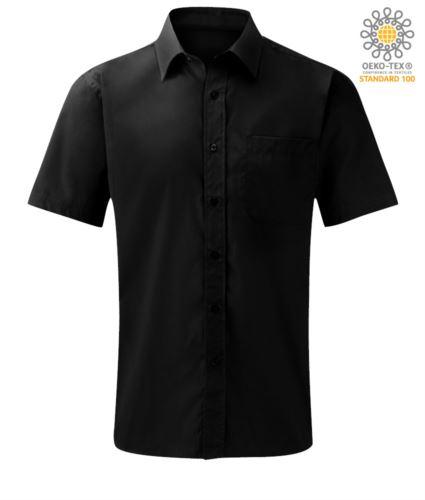 Camicia a manica corta per uso lavorativo colore nero