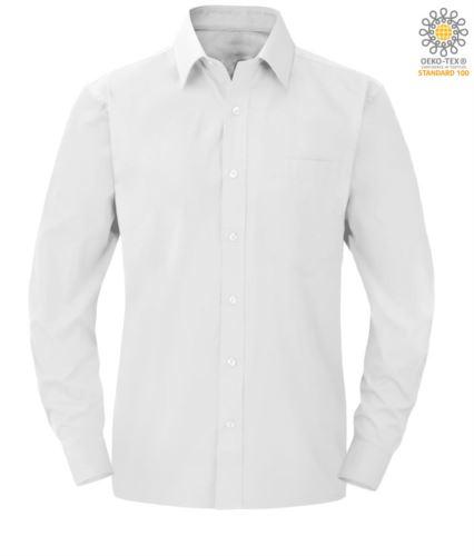 Camicia da uomo da divisa a manica lunga colore bianco