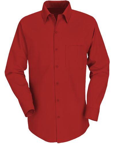 Camicia da uomo a manica lunga per divisa da lavoro colore rosso