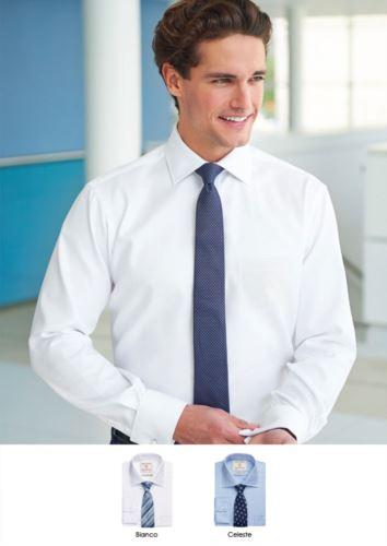 Camicia da uomo a manica lunga in poliestere e cotone, tessuto con caratteristiche easy iron. Ideale per uniformi di portierato, hotel, receptionist.