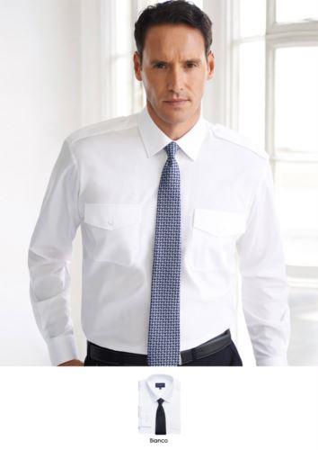 Camicia elegante da uomo in poliestere e cotone, con tessuto easy iron.