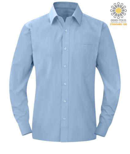 camicia da divisa a manica lunga colore Bright Sky