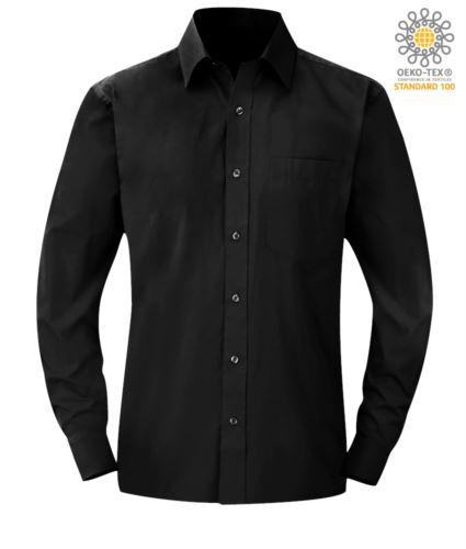 Camicia colore nero da uomo per divisa da lavoro