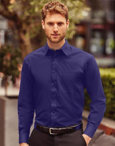 Camicia uomo popeline maniche lunghe