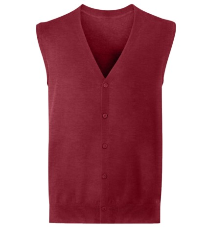 Cardigan uomo bordeaux