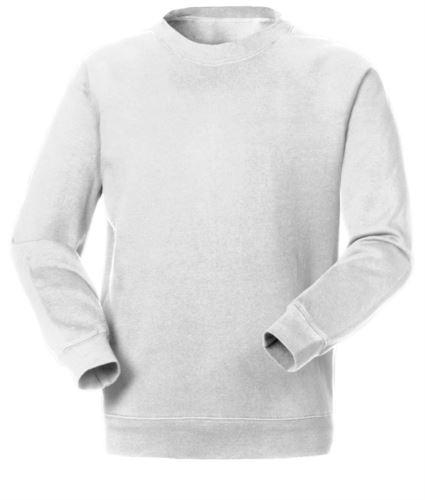 Felpa da lavoro per uso promozionale colore bianco | vendita all'ingrosso