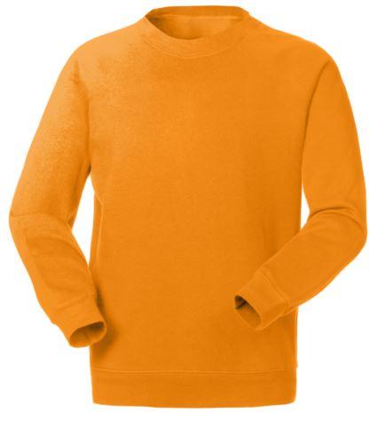 Felpa da lavoro per uso promozionale colore arancione | vendita all'ingrosso