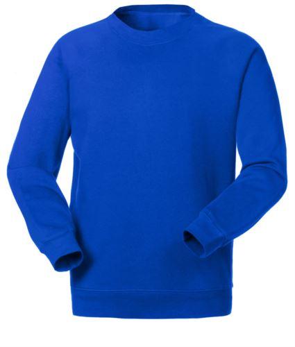 Felpa da lavoro personalizzabile a girocollo colore blu royal