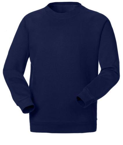 Felpa da lavoro colore blu navy personalizzabile con logo, ricami divise da lavoro, felpe professionali Svizzera, abbigliamento da lavoro