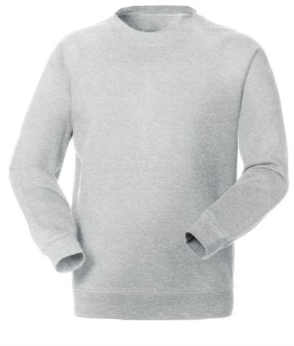 Felpa da lavoro per uso promozionale colore grigio girocollo